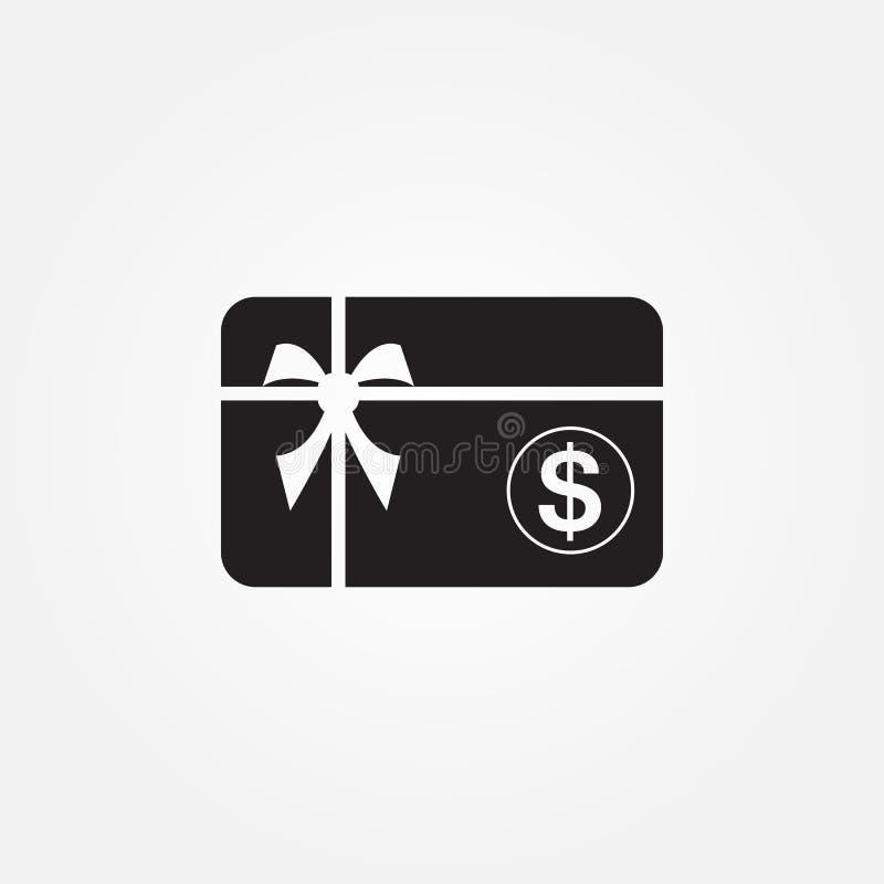 Icono del vector del carte cadeaux aislado en el fondo blanco libre illustration