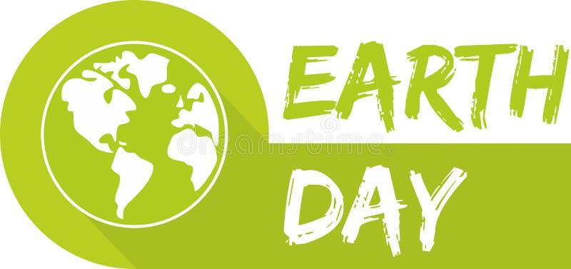 Icono del vector del Día de la Tierra con el planeta verde ilustración del vector