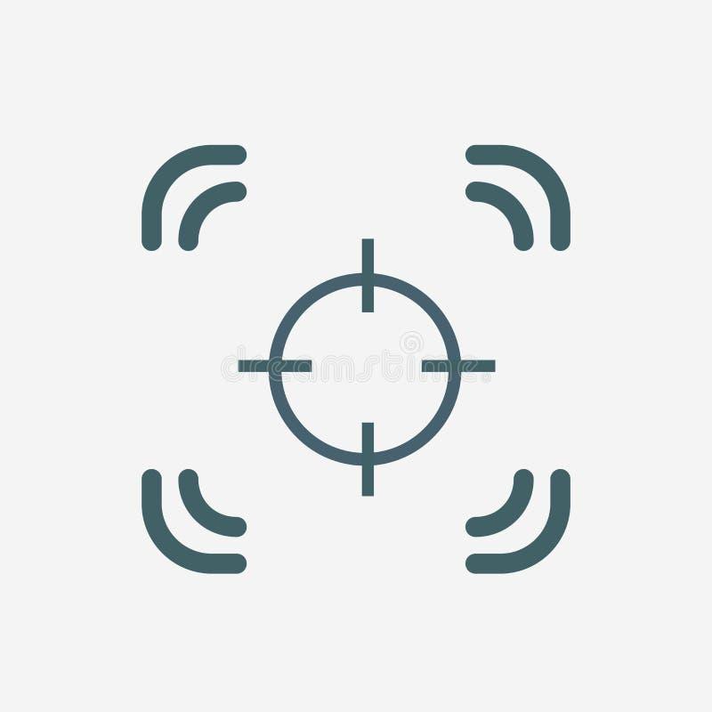 Icono del vector del foco de la cámara fotos de archivo