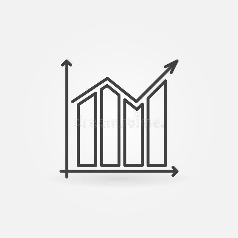 Icono del vector del gráfico ilustración del vector