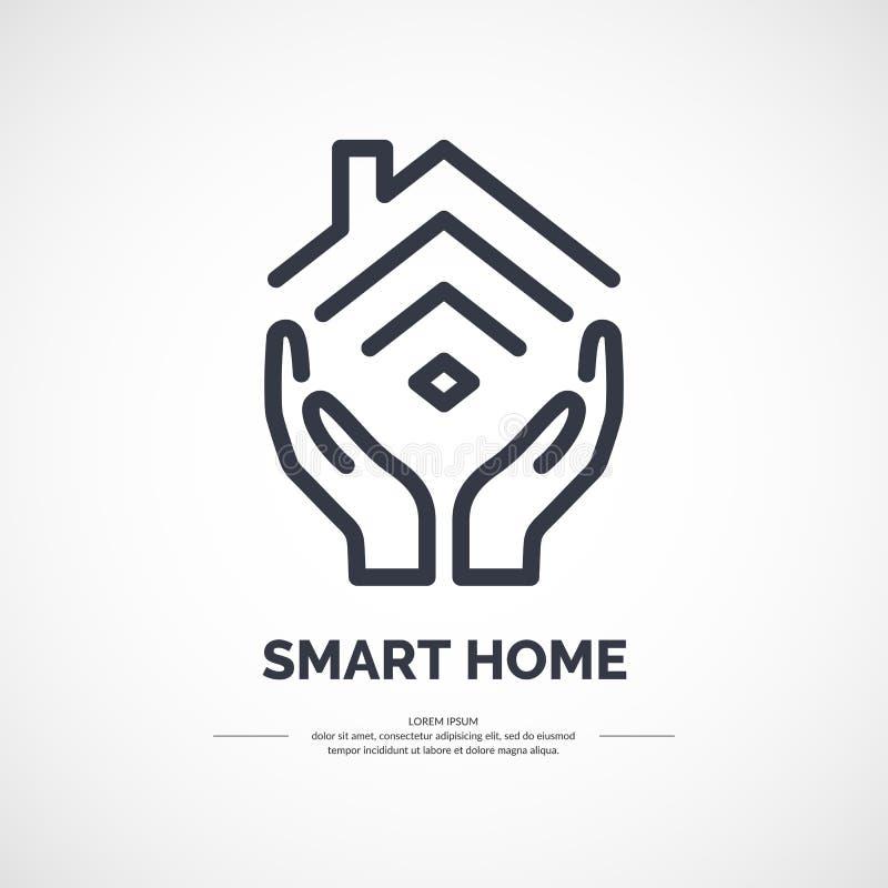 Icono del vector del hogar elegante libre illustration