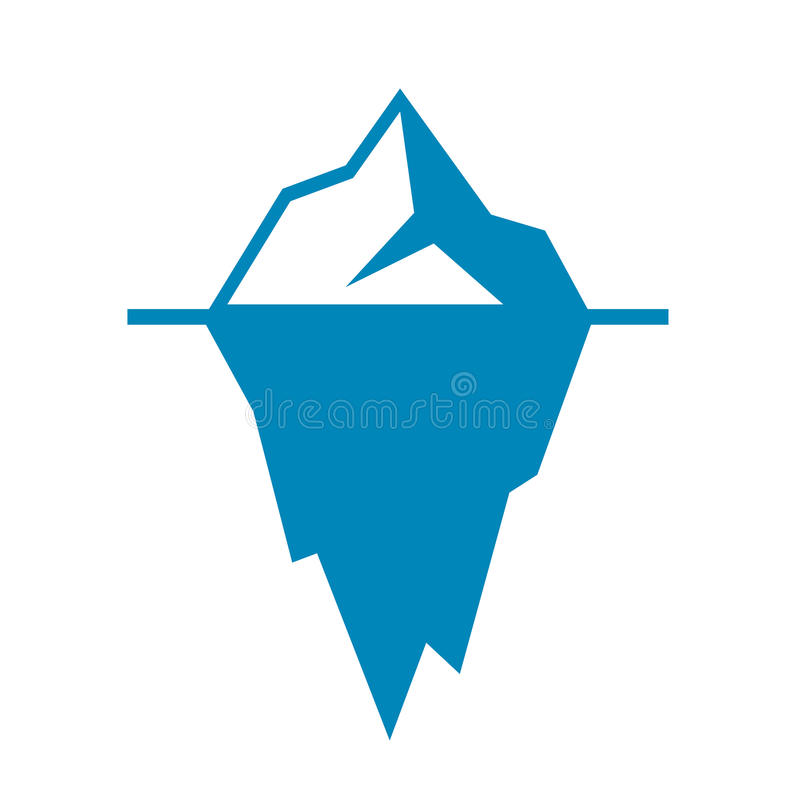 Icono del vector del iceberg stock de ilustración
