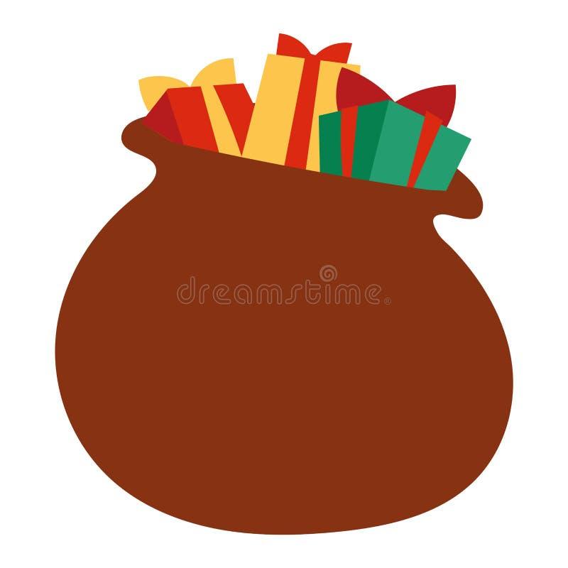 Icono del vector del monedero del regalo aislado stock de ilustración