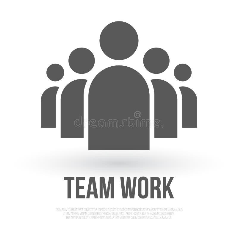Icono del vector del negocio del grupo de personas Team Work Flat Icon para el yo libre illustration