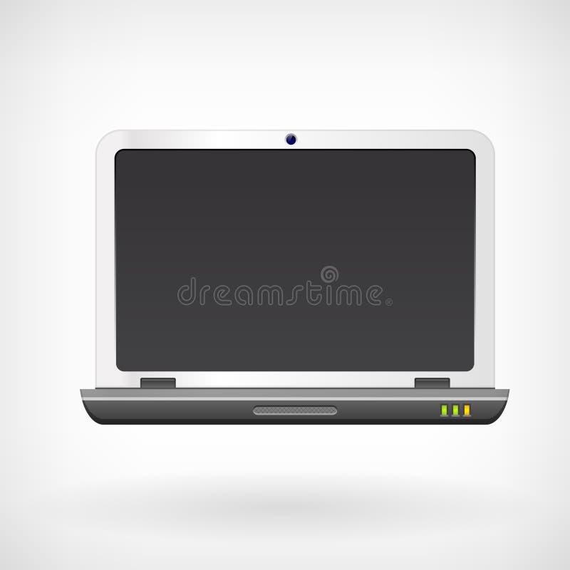 Icono del vector del ordenador portátil del cuaderno ilustración del vector