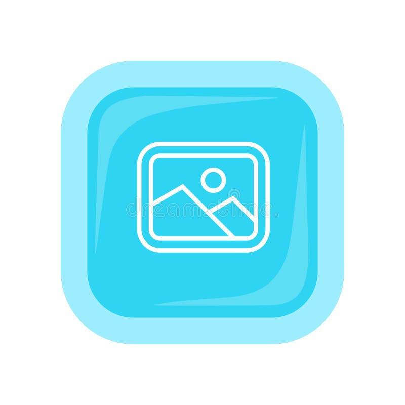 Icono del vector del paisaje en diseño plano del estilo ilustración del vector