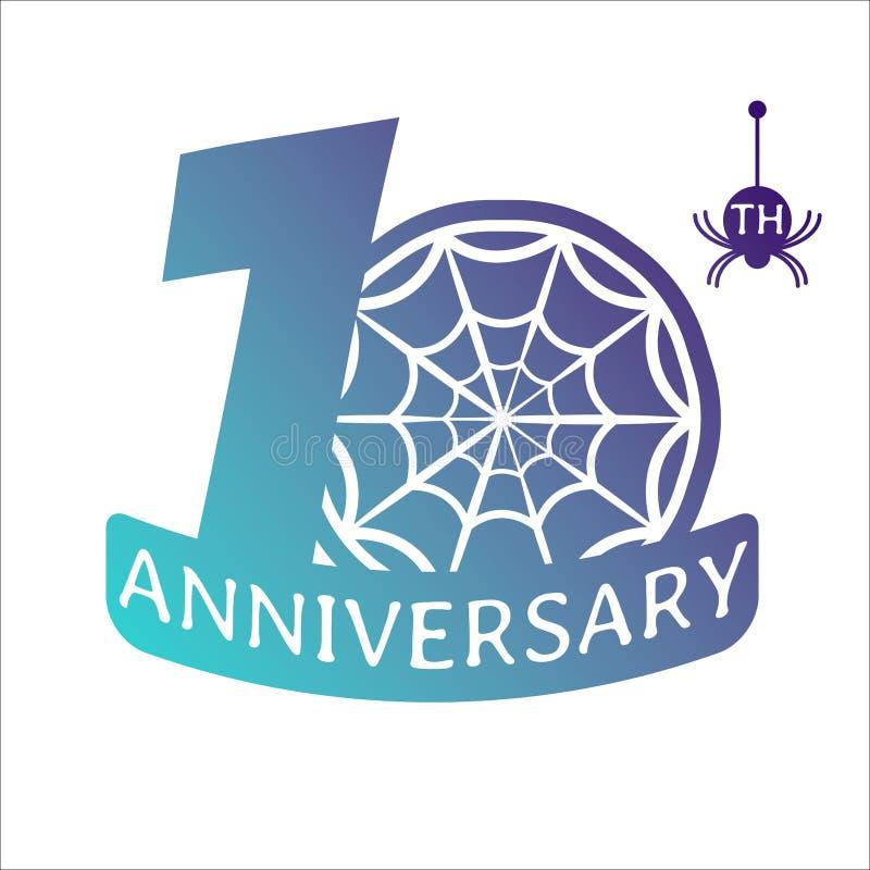 Icono del vector del pictograma del aniversario libre illustration