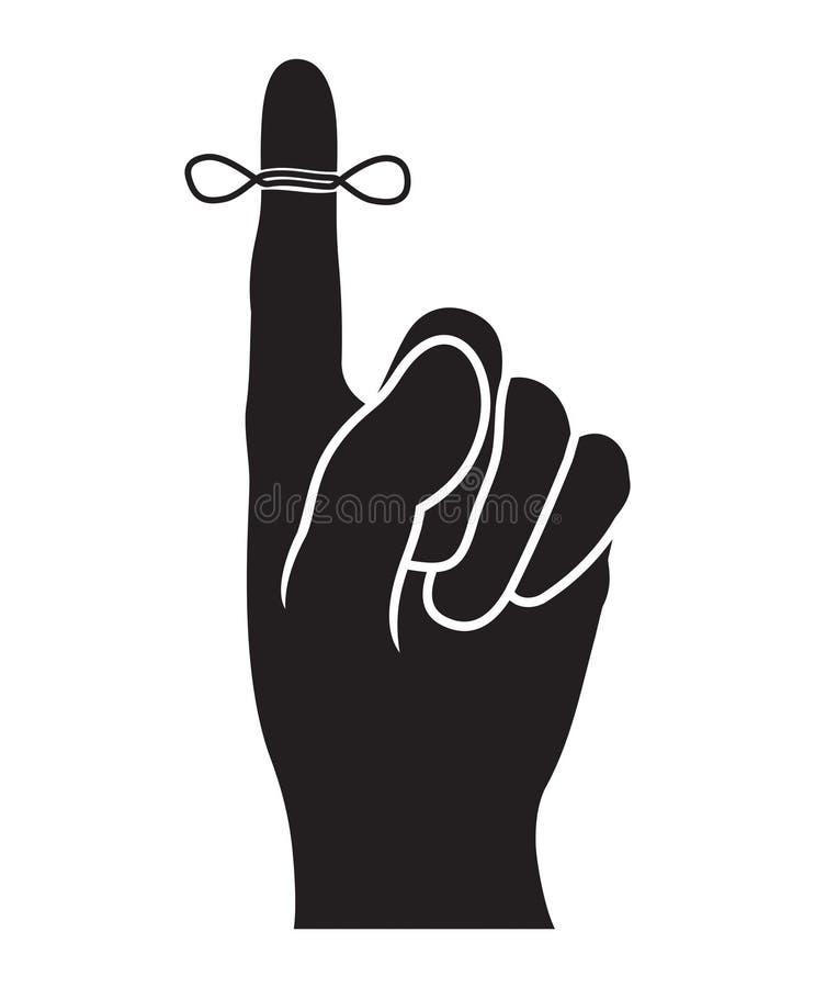 Icono del vector del recordatorio stock de ilustración