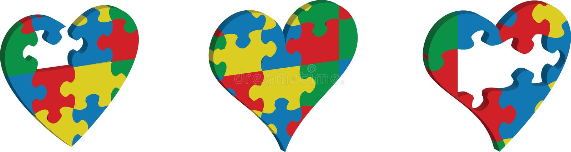 Icono del vector del rompecabezas en forma del corazón stock de ilustración