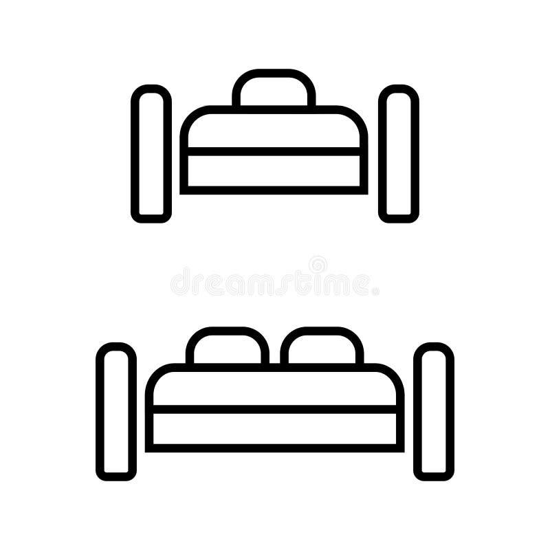 Icono del vector del sitio solo y doble del hotel libre illustration