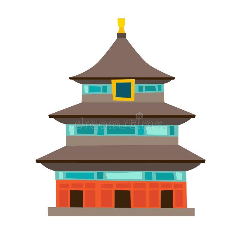 Icono del vector del Templo del Cielo libre illustration