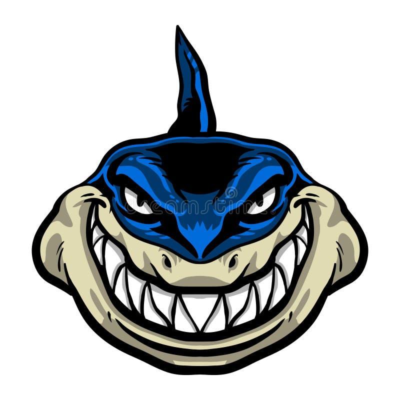 Icono del vector del tiburón ilustración del vector