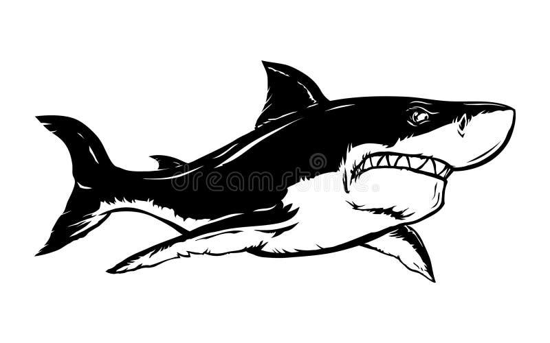 Icono del vector del tiburón libre illustration