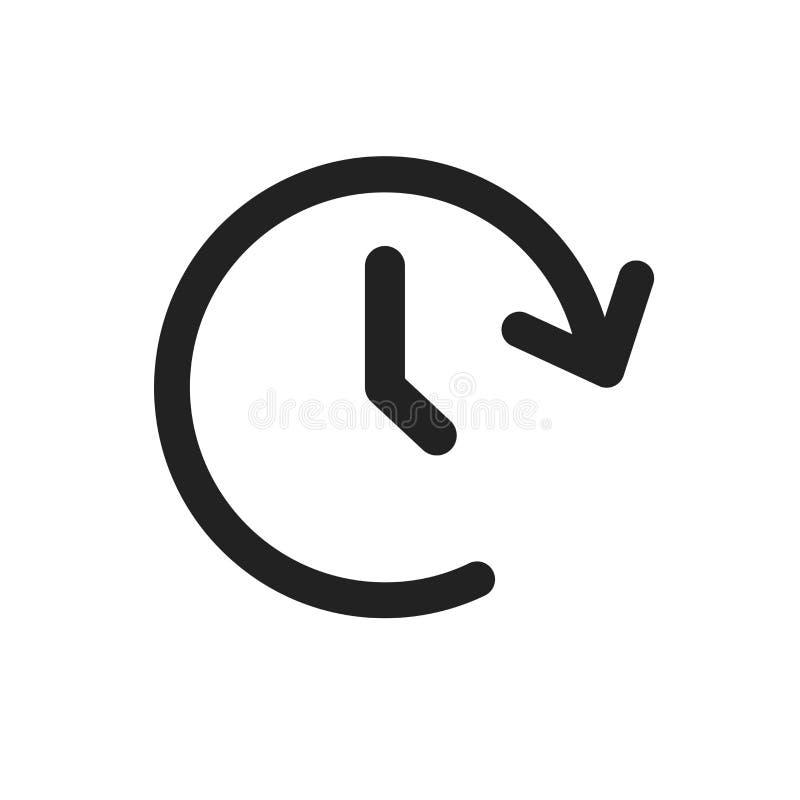 Icono del vector del tomo del reloj Contador de tiempo 24 horas de ejemplo de la muestra libre illustration