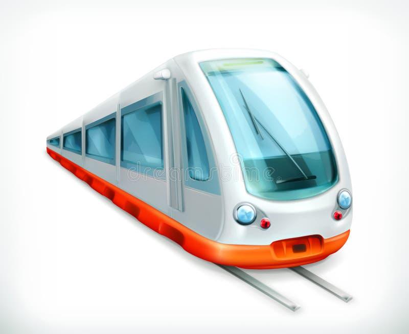 Icono del vector del tren stock de ilustración
