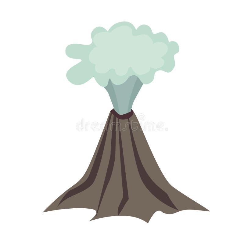 Icono del vector del volcán stock de ilustración