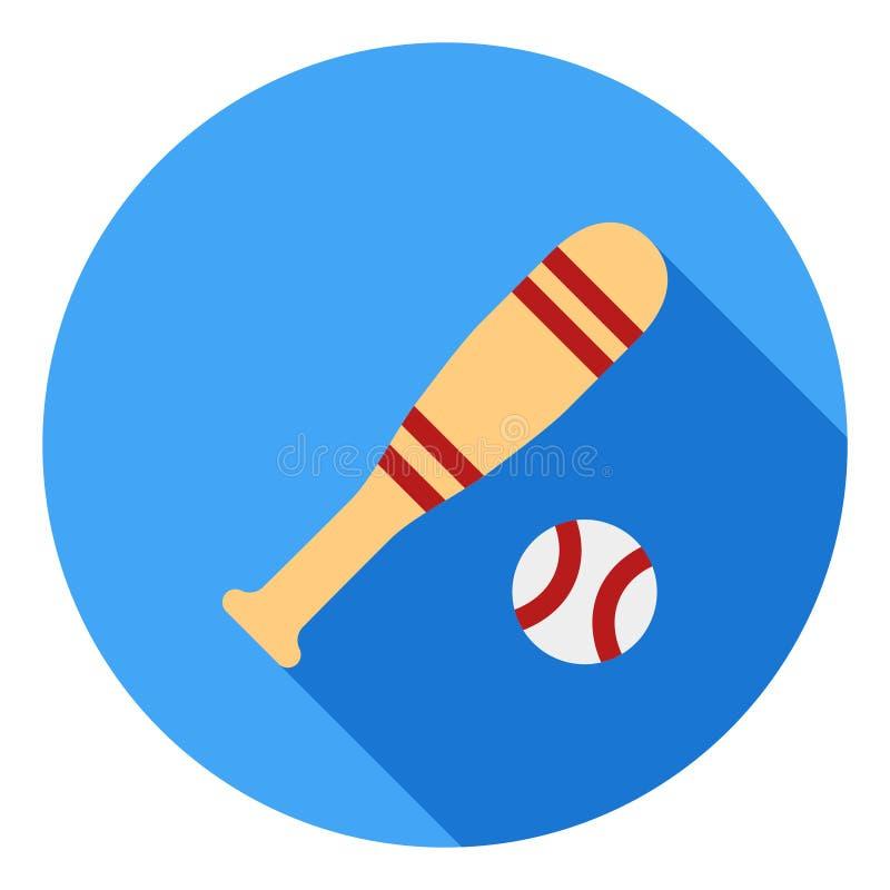 Icono del vector del deporte del béisbol, icono del palillo del béisbol, símbolo de los deportes Icono largo moderno, plano del v libre illustration