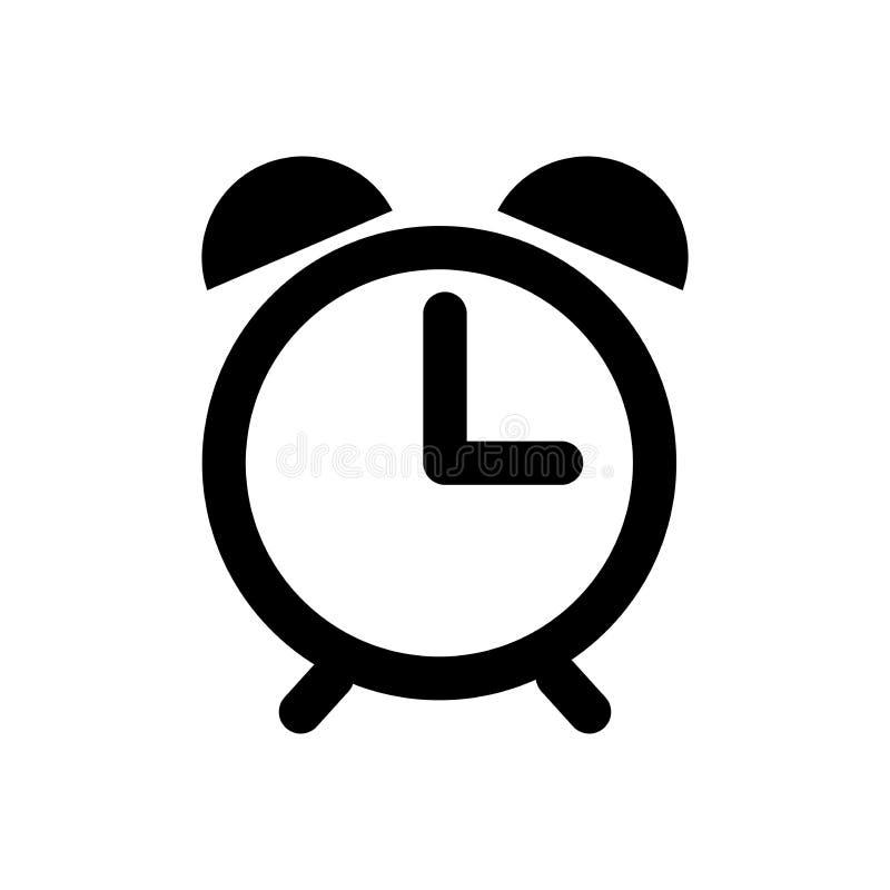 Icono del vector del despertador aislado en el fondo blanco libre illustration