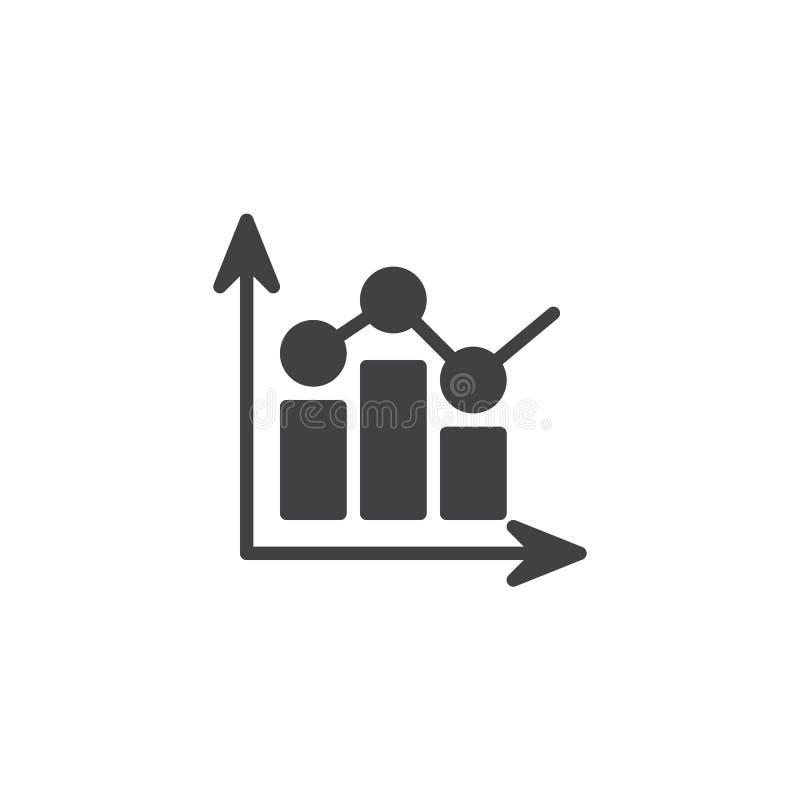Icono del vector del diagrama de la barra de las estadísticas stock de ilustración