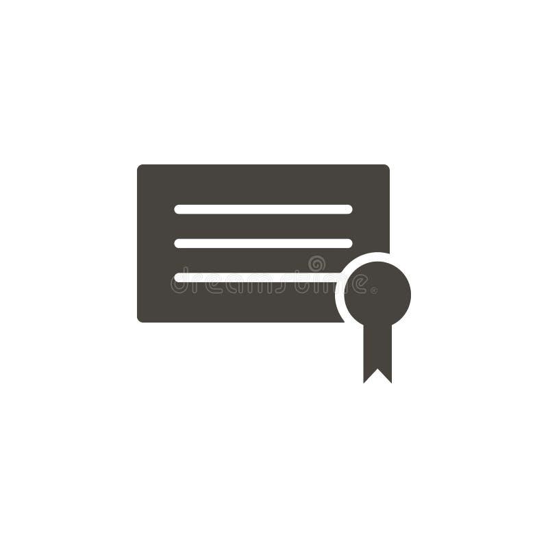 Icono del vector del diploma Icono simple del vector del illustrationDiploma del elemento Ejemplo material del vector del concept stock de ilustración