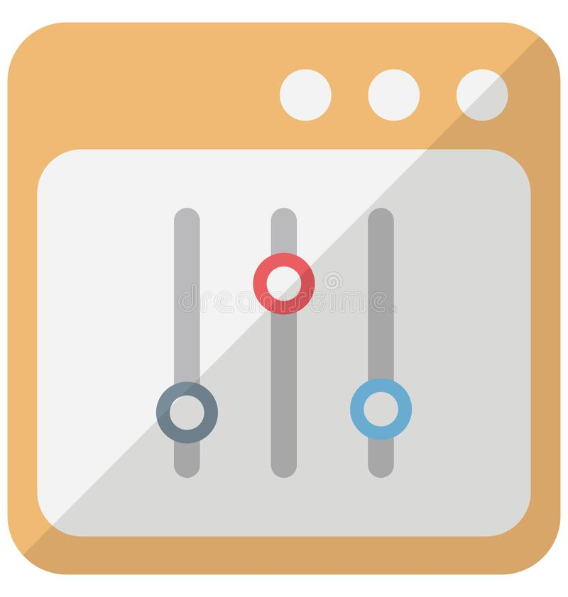 Icono del vector del diseño del elemento del interfaz que puede modificarse o corregir fácilmente ilustración del vector