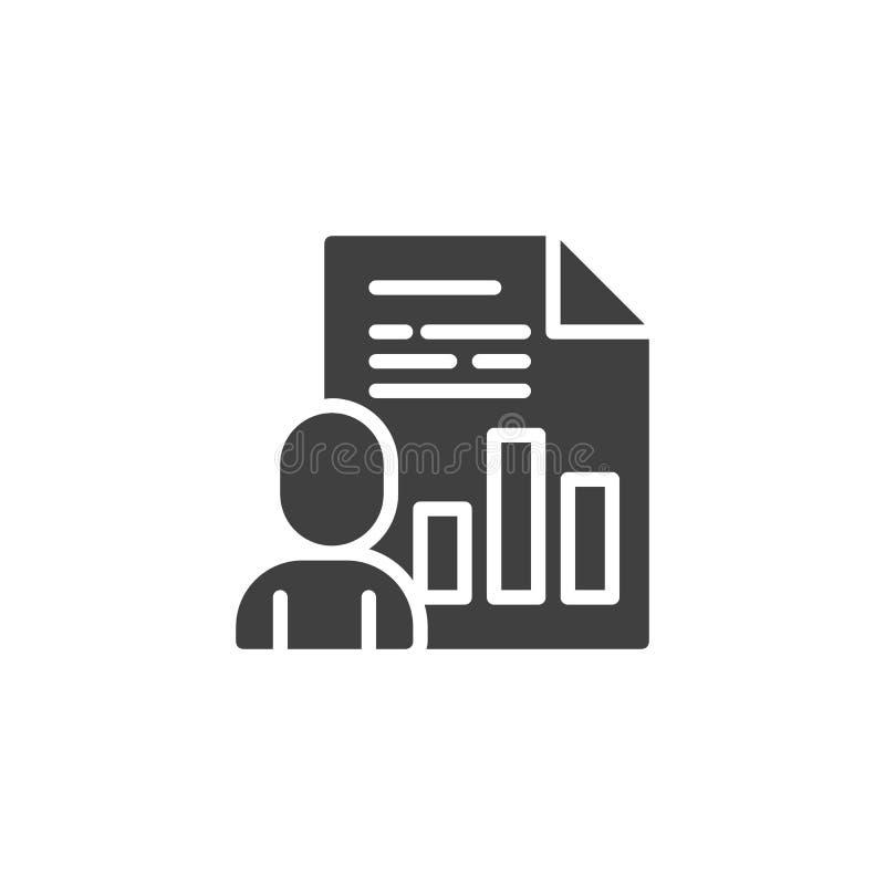 Icono del vector del documento de la presentación del negocio libre illustration