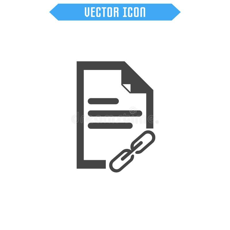 Icono del vector del documento Icono plano símbolo de la muestra del vector ilustración del vector