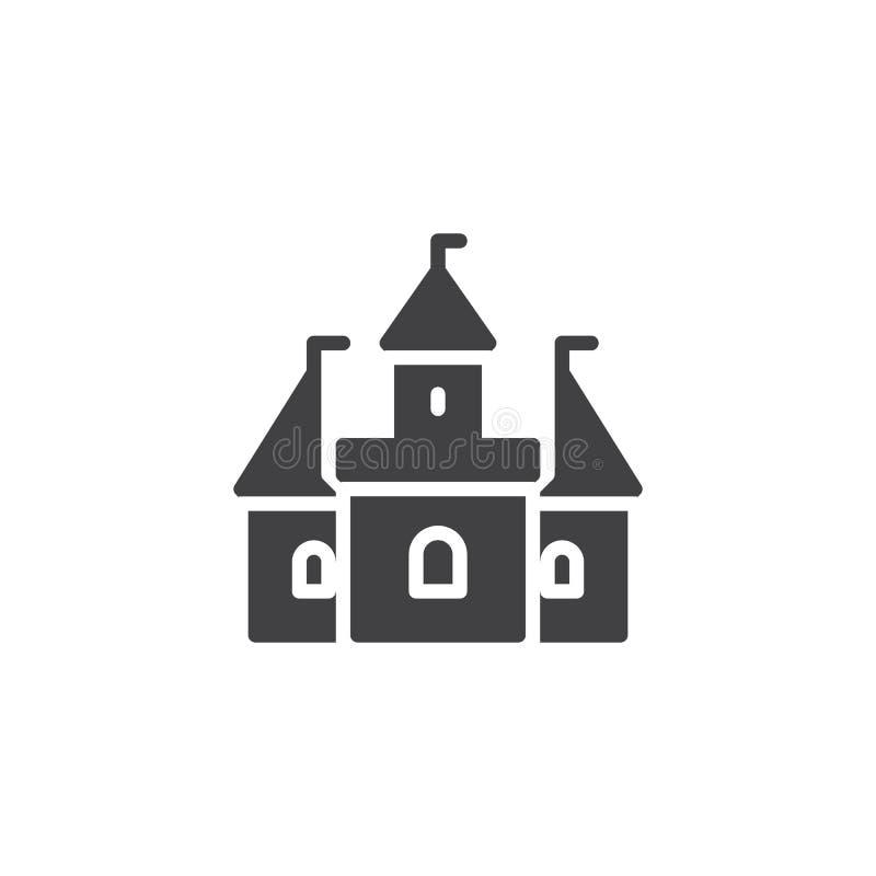 Icono del vector del edificio del castillo libre illustration