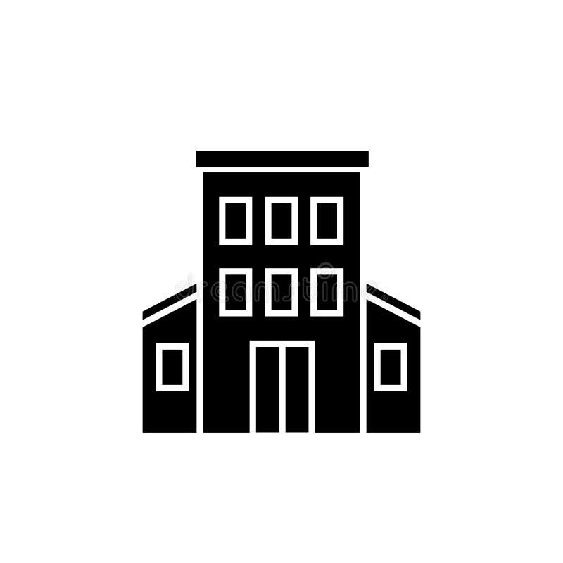 Icono del vector del edificio de la administración ilustración del vector