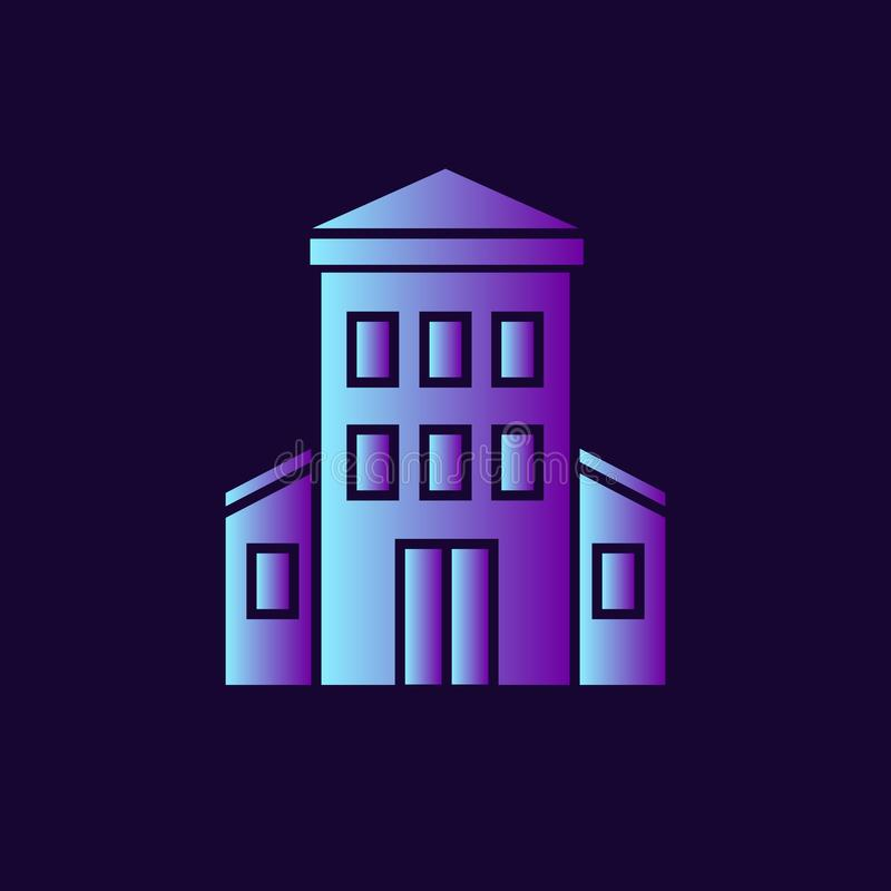 Icono del vector del edificio de la administración libre illustration