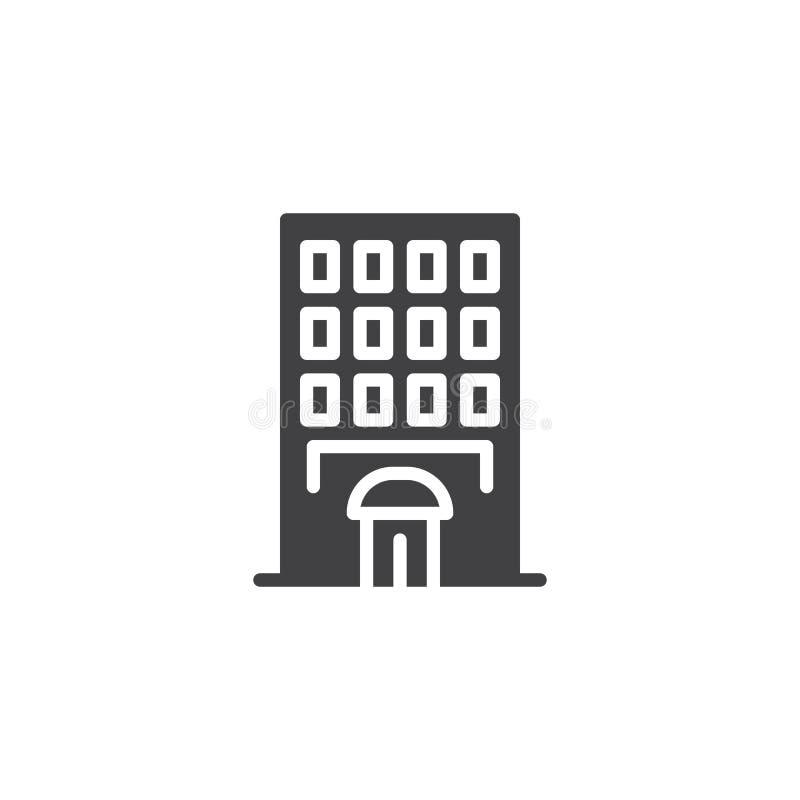 Icono del vector del edificio del hotel libre illustration