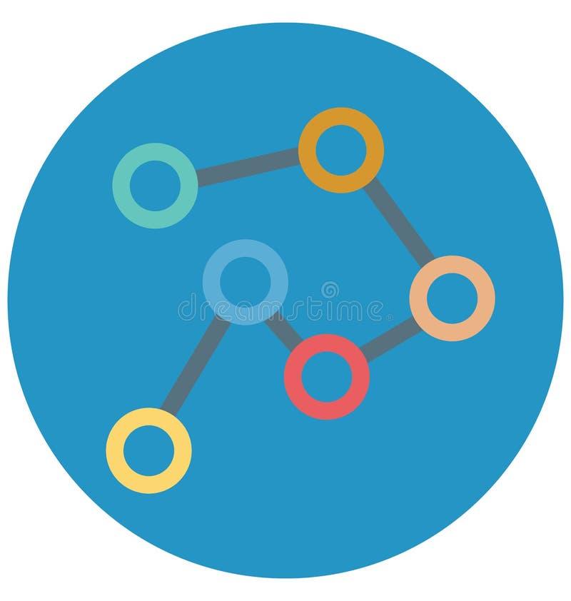 Icono del vector del ejemplo de color de la conexión stock de ilustración