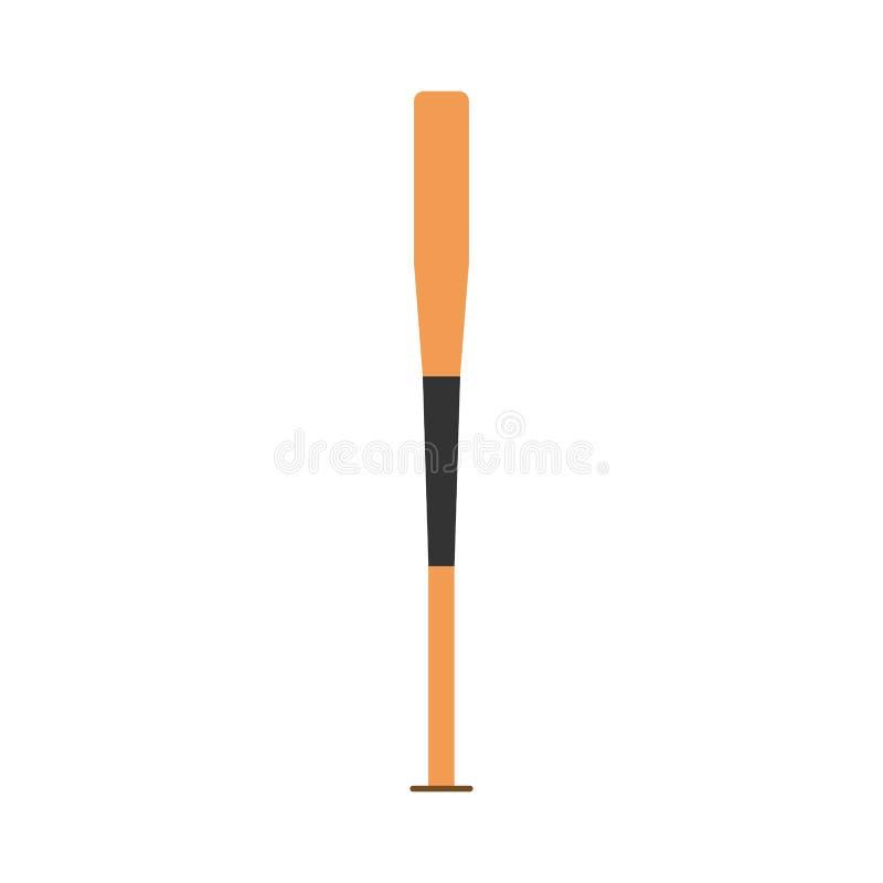 Icono del vector del elemento de la competencia del símbolo del bate de béisbol Club de deporte plano de madera de la silueta libre illustration