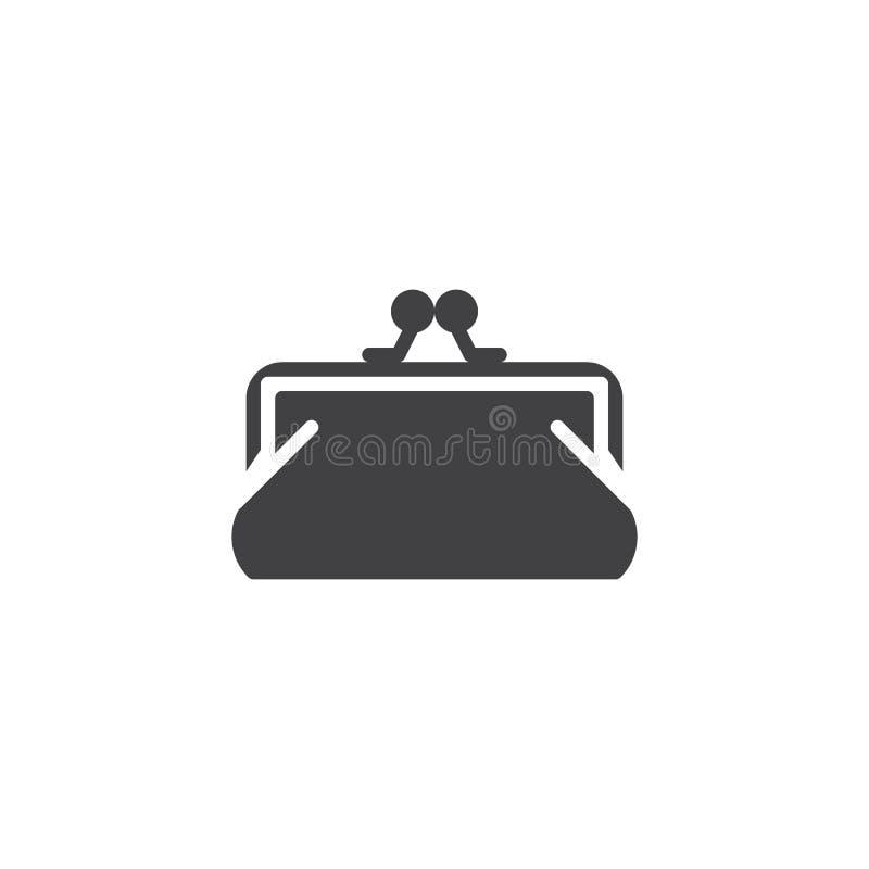 Icono del vector del embrague del monedero stock de ilustración