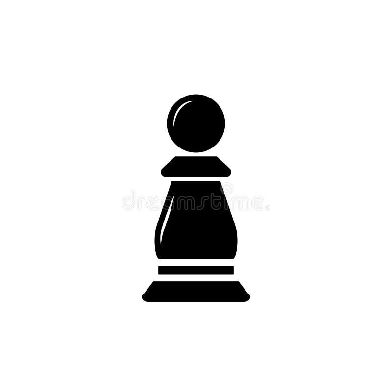 Icono del vector del empe?o del ajedrez stock de ilustración