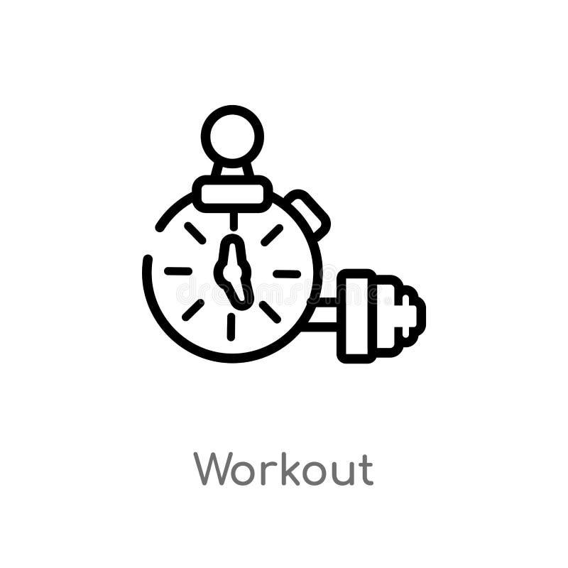 icono del vector del entrenamiento del esquema l?nea simple negra aislada ejemplo del elemento del concepto del tiempo libre Movi libre illustration