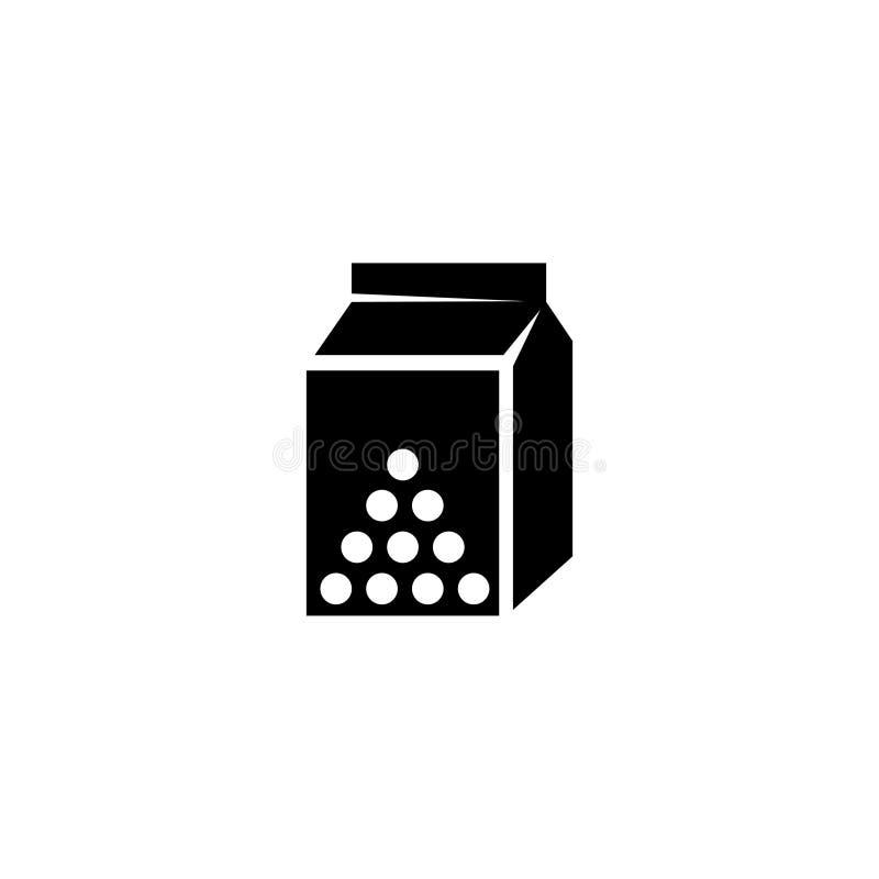 Icono del vector del envase de la leche stock de ilustración