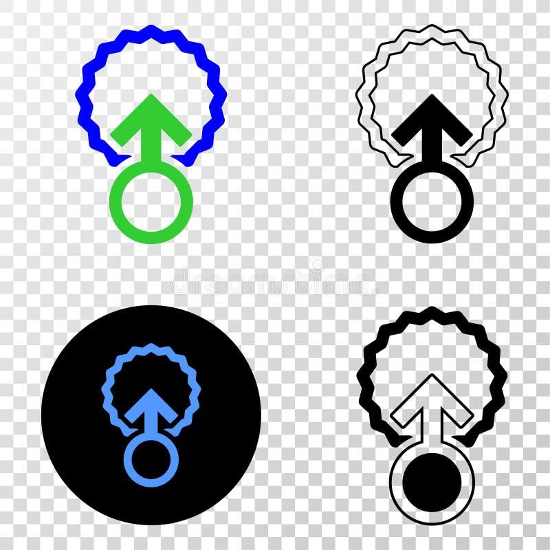 Icono del vector EPS de la inseminación con la versión del contorno ilustración del vector