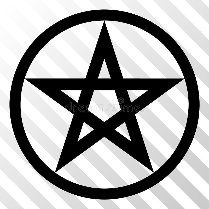 Icono del vector EPS del pentáculo de la estrella ilustración del vector