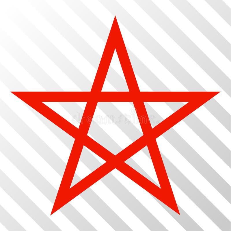 Icono del vector EPS del Pentagram de la estrella ilustración del vector