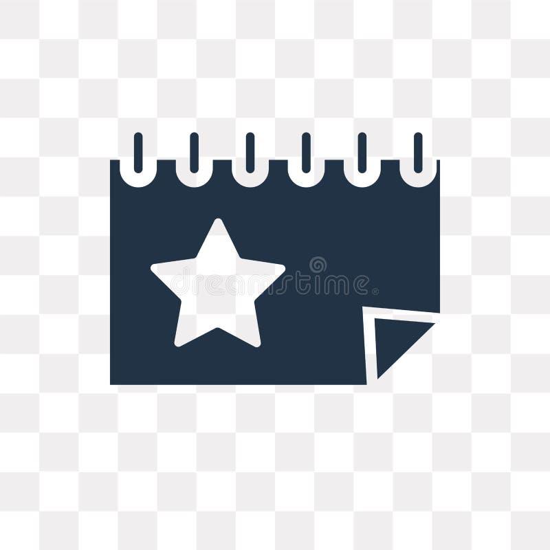 Icono del vector del evento aislado en el fondo transparente, tra del evento stock de ilustración