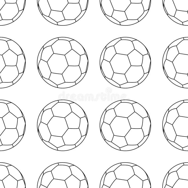 Icono del vector del fútbol, soccerball del emblema ejemplo del vector aislado en el fondo blanco l?nea estilo Modelo incons?til  ilustración del vector