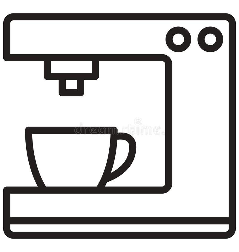 Icono del vector del fabricante de café que puede ser modificado o corregir fácilmente stock de ilustración