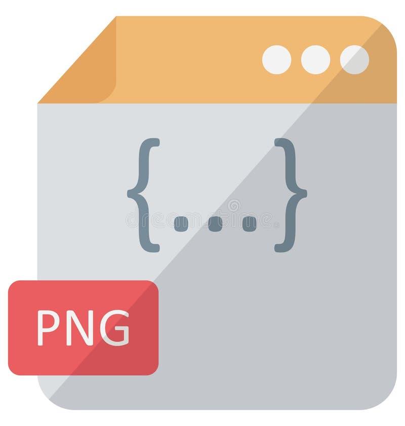 Icono del vector del formato de archivo que puede modificarse o corregir fácilmente ilustración del vector