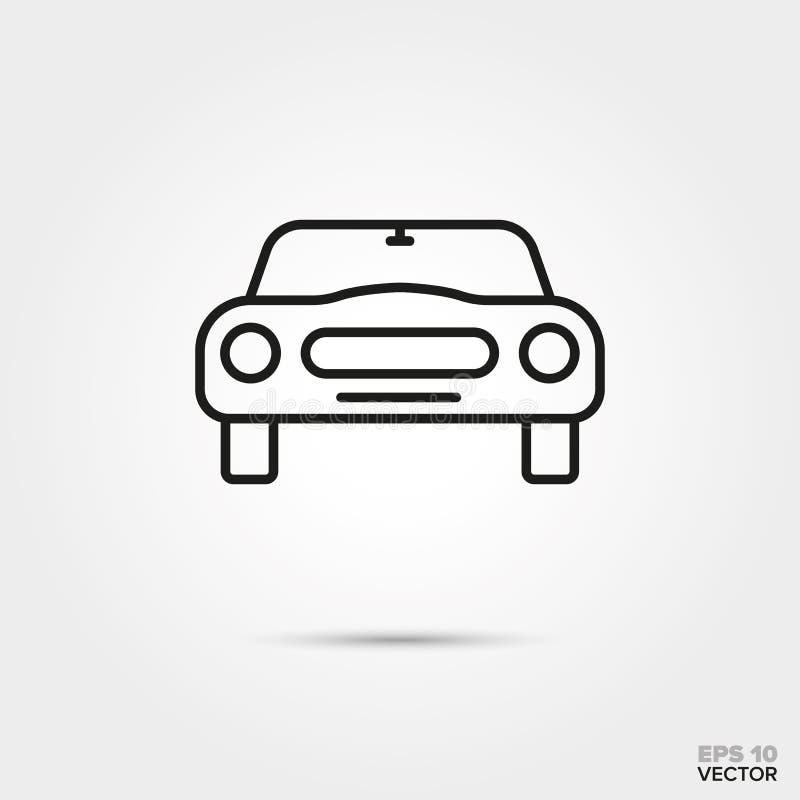 Icono del vector del frente de Sportscar ilustración del vector