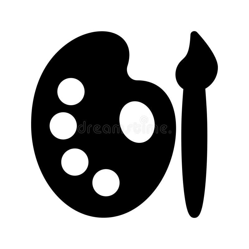 Icono del vector del glyph de la pintura ilustración del vector