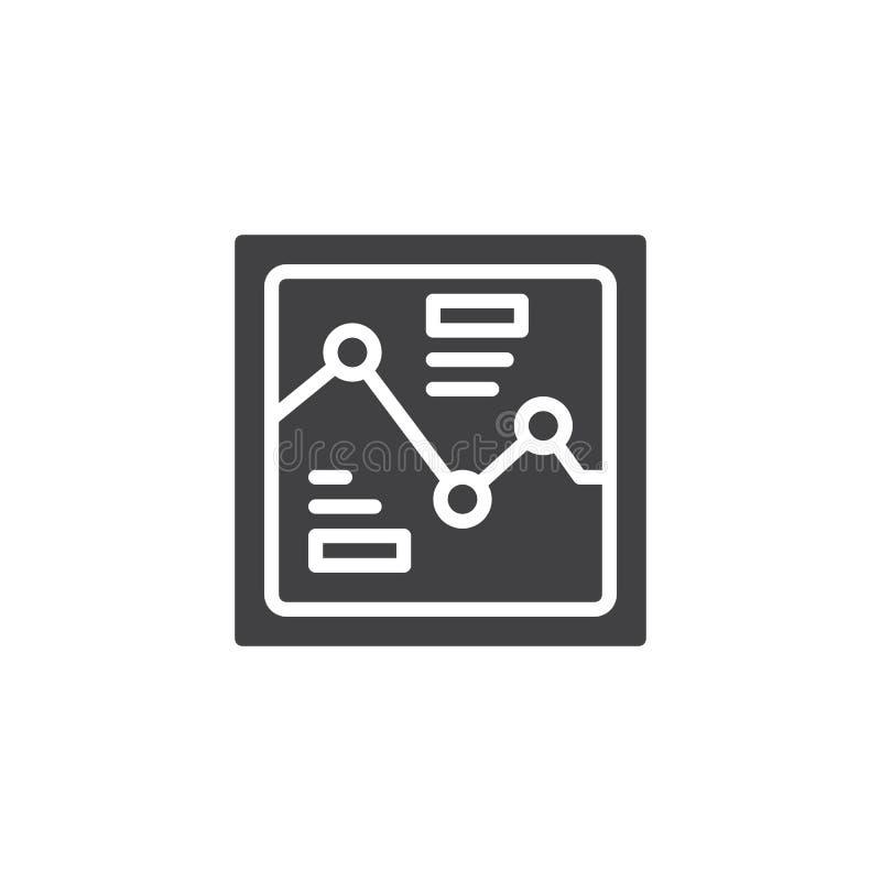 Icono del vector del gráfico del Analytics ilustración del vector