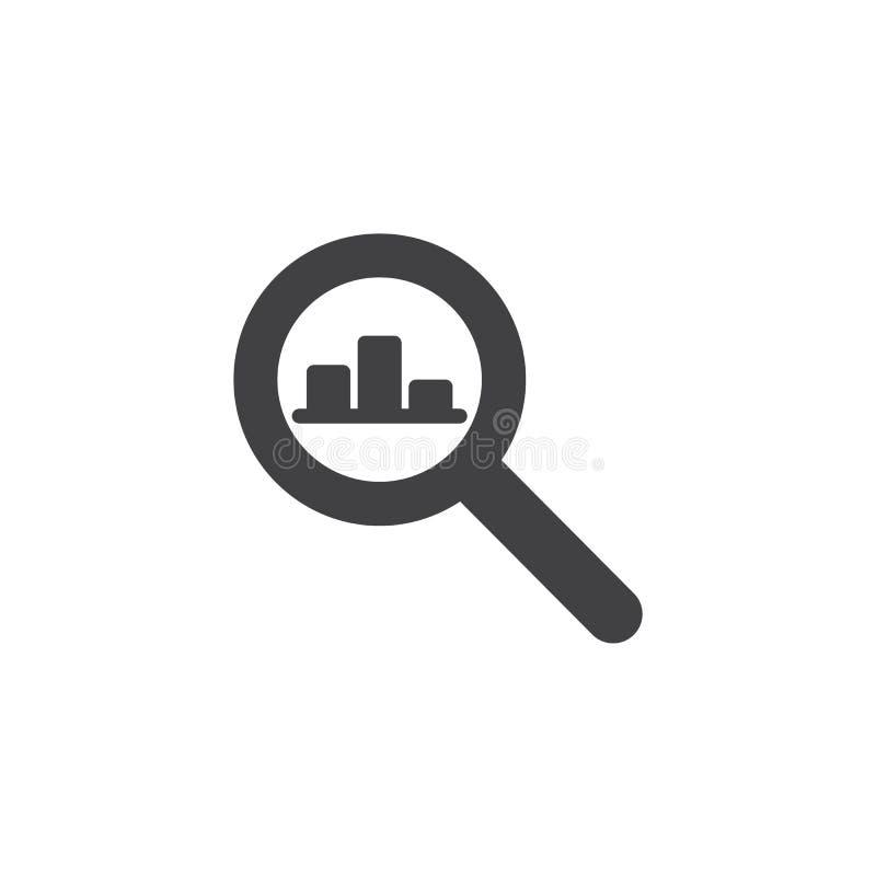 Icono del vector del gráfico de búsqueda libre illustration