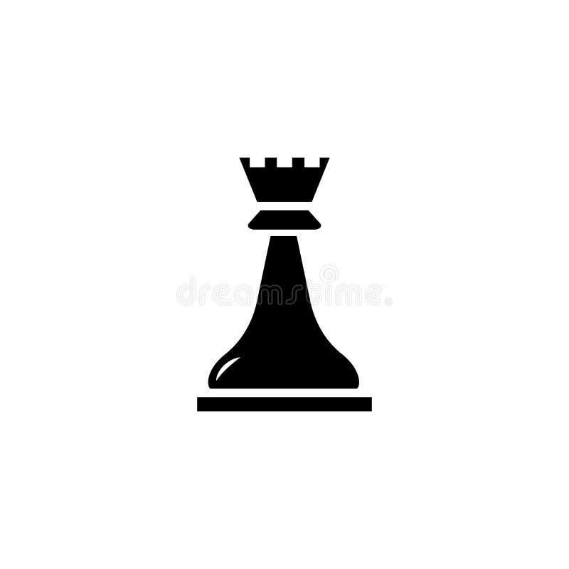Icono del vector del grajo del ajedrez stock de ilustración