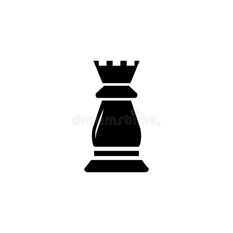 Icono del vector del grajo del ajedrez ilustración del vector